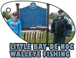 LITTLE BAY DE NOC WALLEYE FISHING
